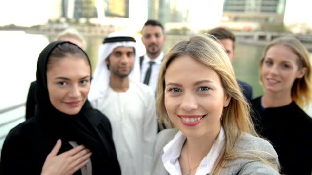 SELFIE: Business team in Middle East video