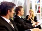 Business team leader video