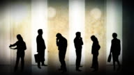 Business team silhouettes video