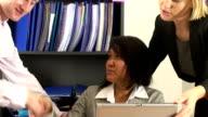 Business team video