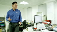 Business team working together video