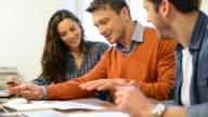 Business teamwork video