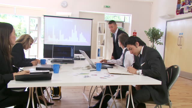 Business training and planning session video