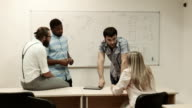 Business training in classroom video