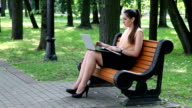 Business woman making notes video