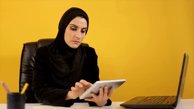 Business woman middle age in the office video