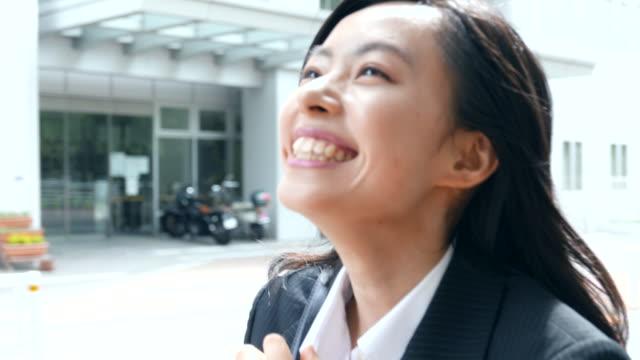 business woman walking video
