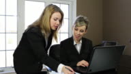 Business women at work video