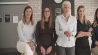 Business Women Only Team Portrait video