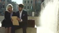 Business work outdoor video