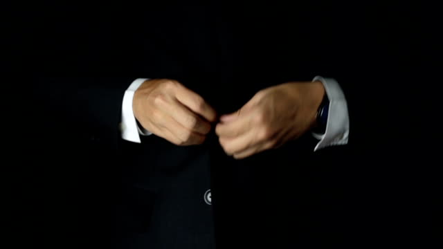 Businessman Adjust Necktie his Suit video