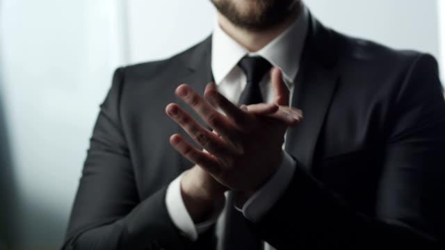 Businessman Applause video