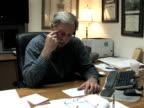 Businessman at Desk 1 video