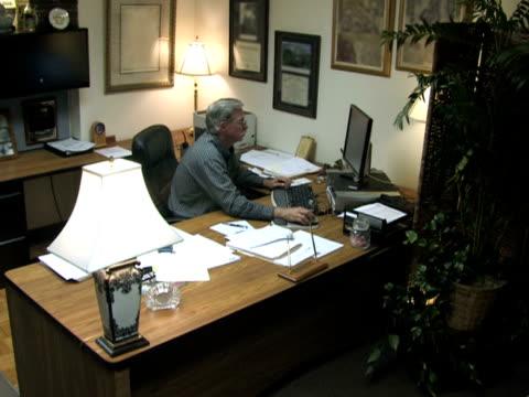Businessman at Desk 3 video
