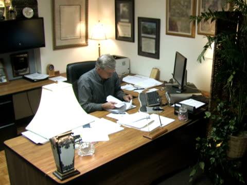 Businessman at Desk 4 video