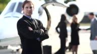 Businessman by jet video