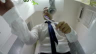 Businessman Dressing For Work video