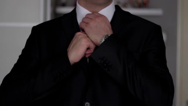 Businessman getting ready for work,yuppi video