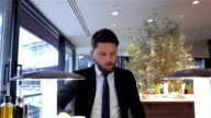 Businessman going on the meeting after break video
