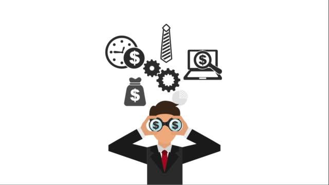 Businessman icon design Video Animation video