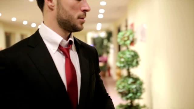 Businessman In A Hotel video
