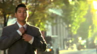 HD Businessman in City, serious video