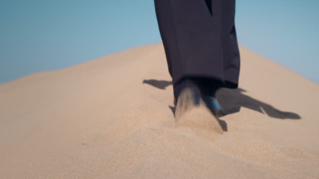 Businessman in desert video