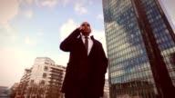 Businessman in La Defense, Paris video