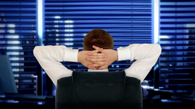 Businessman In Office, relaxing video
