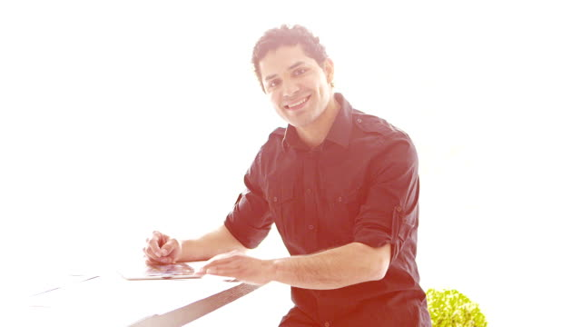 Businessman in office video