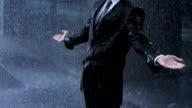 Businessman In The Heavy Rain video