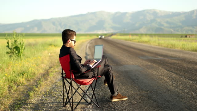 Businessman is working video