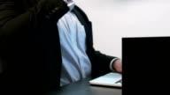Businessman Knocks Over External Hard Drive video