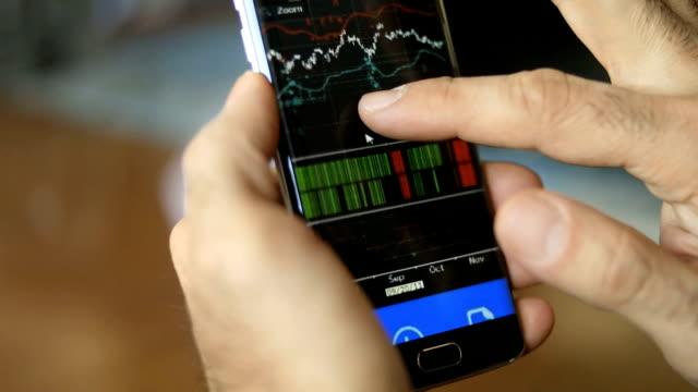 Businessman looking at graph Market Data video