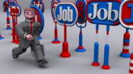(Loop) Businessman looking for Work video