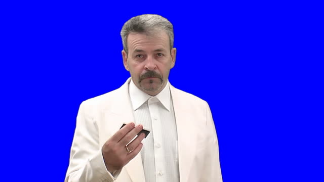 Businessman offers his visiting card video