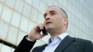 Businessman on a Cellphone video