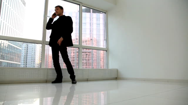 Businessman On Cell Phone video