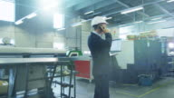 Businessman on the Phone on Factory video