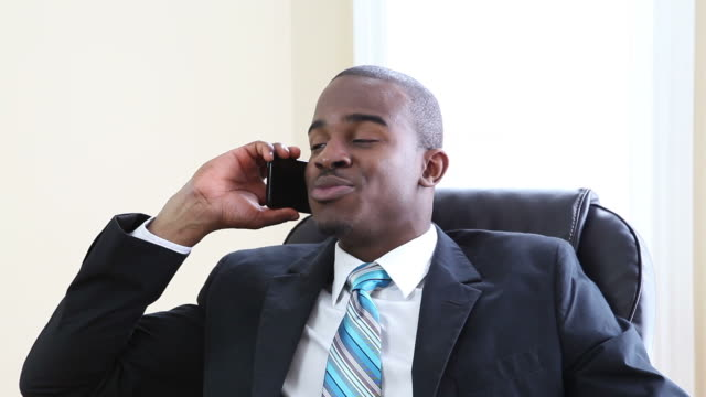 Businessman on the phone video