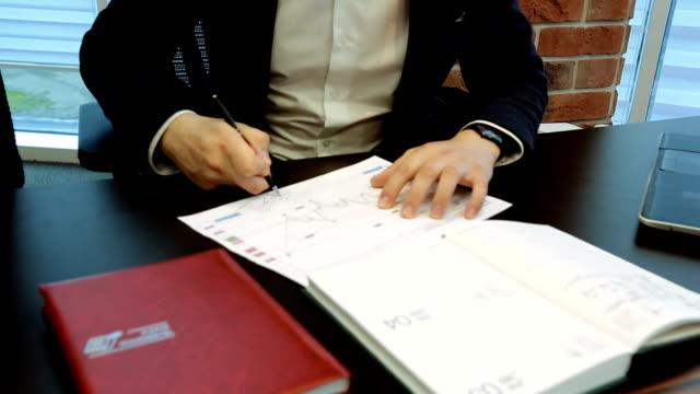 Businessman Placing The Signature video