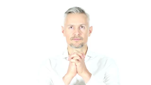 Businessman Praying To God video