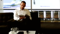 businessman reading video
