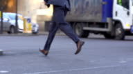 HD SUPER SLOW-MO: Businessman Running video