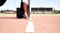 Businessman running video
