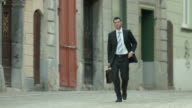 HD: Businessman Rushing To Work video