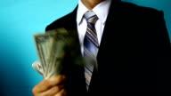 businessman show money video