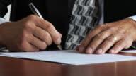 HD: Businessman signature video