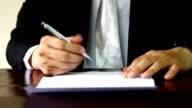 businessman signature video