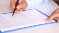 Businessman Signing Contract video